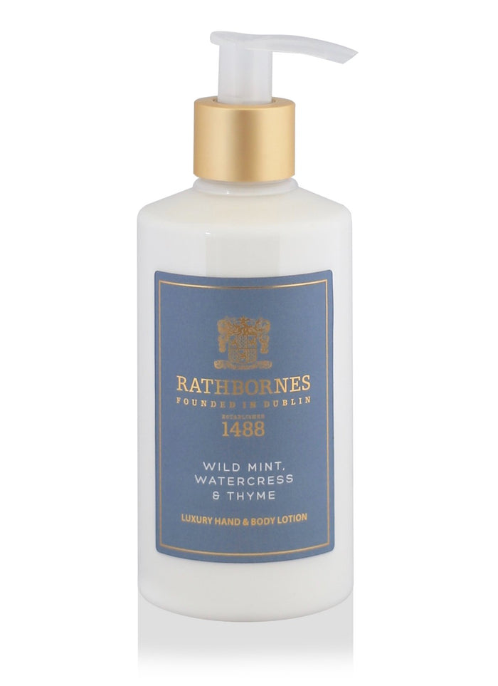 Rathbornes Dublin Wild Mint, Watercress & Thyme - Hand and Body Lotion