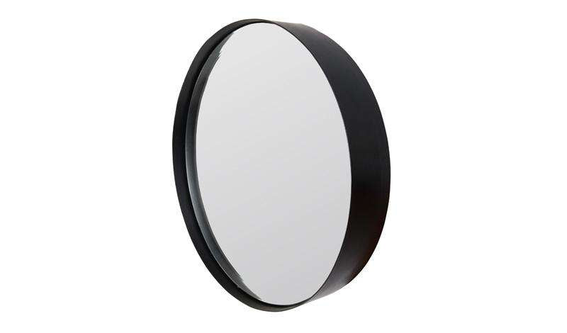 Antique Black Port Mirror - Large
