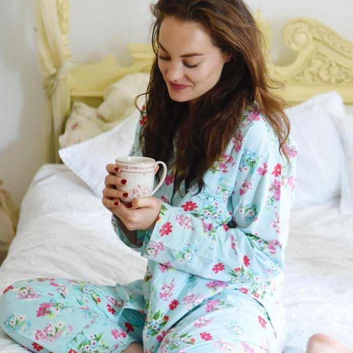 Blue Floral Ladies Pyjamas
