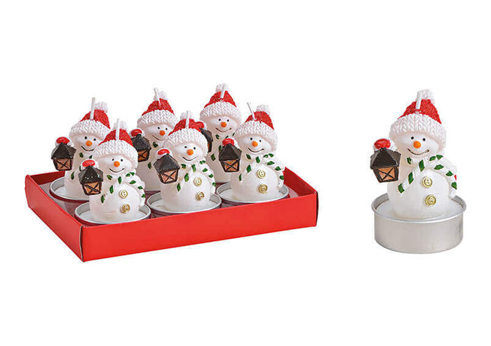 Snowman Tealight Set