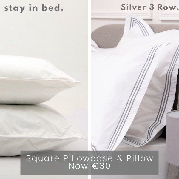 3 Row Silver Pillow Bundle