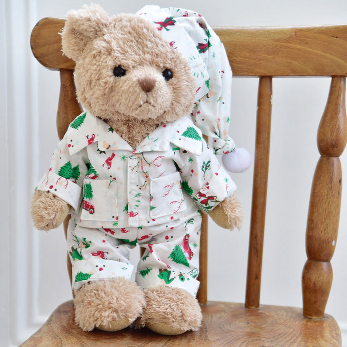 Teddy Bear In Christmas Pyjamas