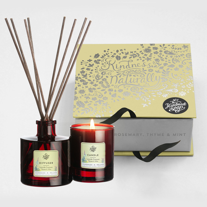 Lavender, Rosemary, thyme & Mint - Diffuser & Candle Gift Set