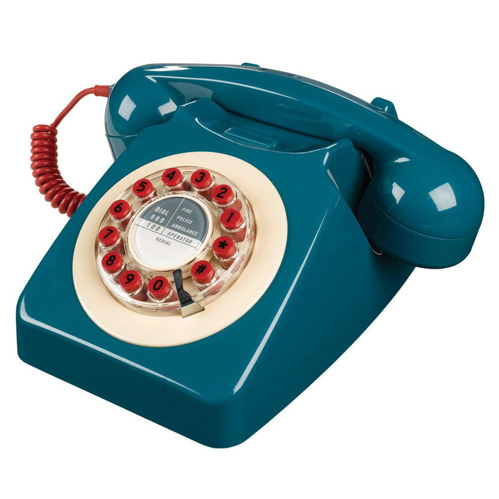Retro 746 Petrol Blue Telephone