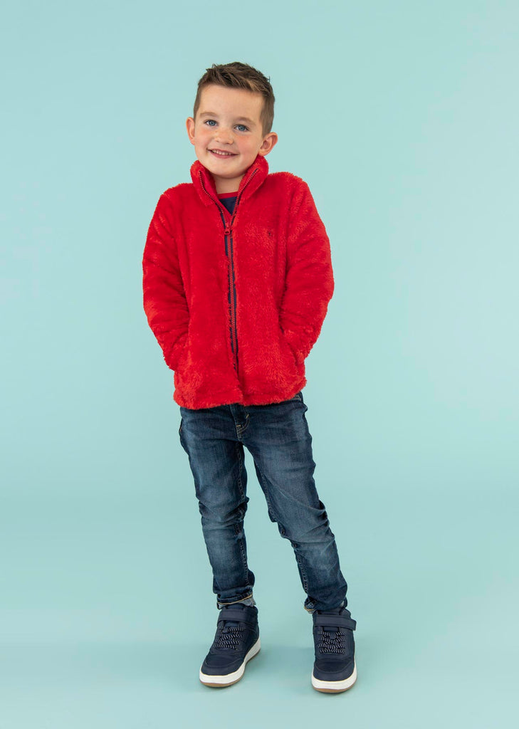Lighthouse Ted Fleece - Lava Red