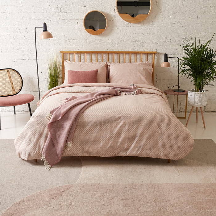 Stripe Terracotta & Cream Fitted Sheet