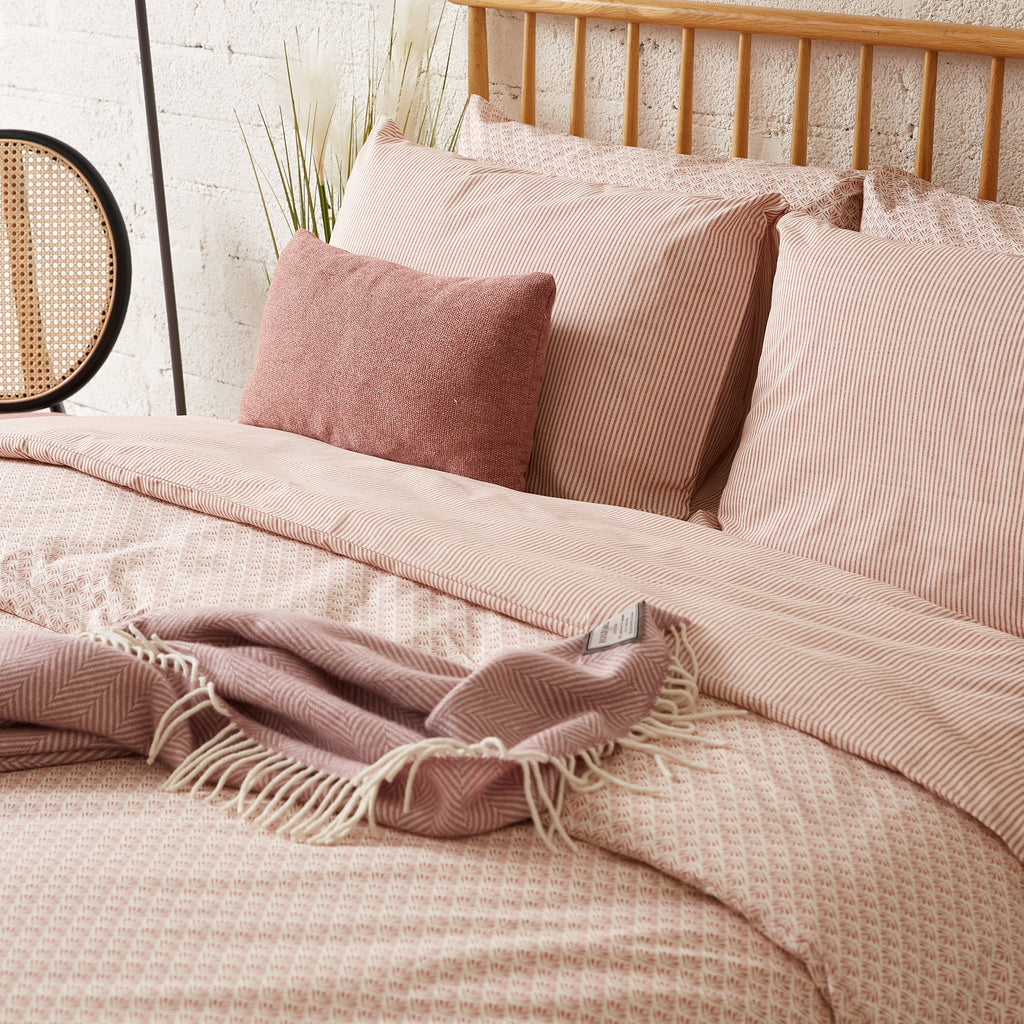 Stripe Terracotta & Cream Duvet Cover
