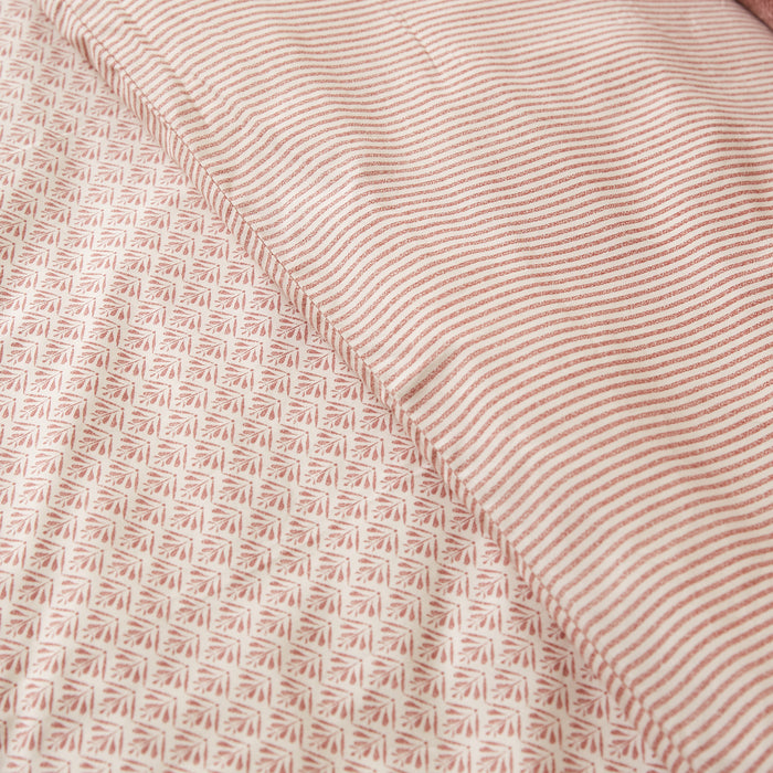 Terracotta & Cream Stripe Duvet Cover