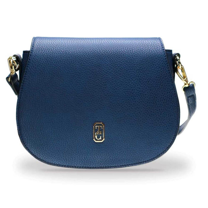 Tipperary Crystal- Kensington Navy Saddle Bag