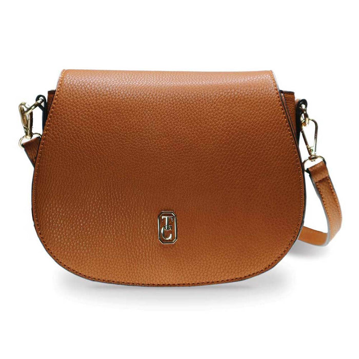Tipperary Crystal- Kensington Tan Saddle Bag
