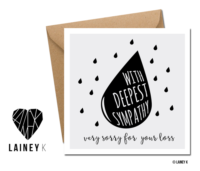 With Deepest Sympathy - Greeting Card