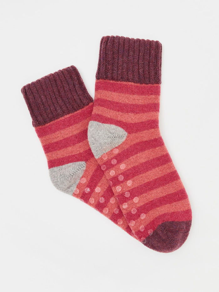 White Stuff Cabin Loop Back Stripe Socks