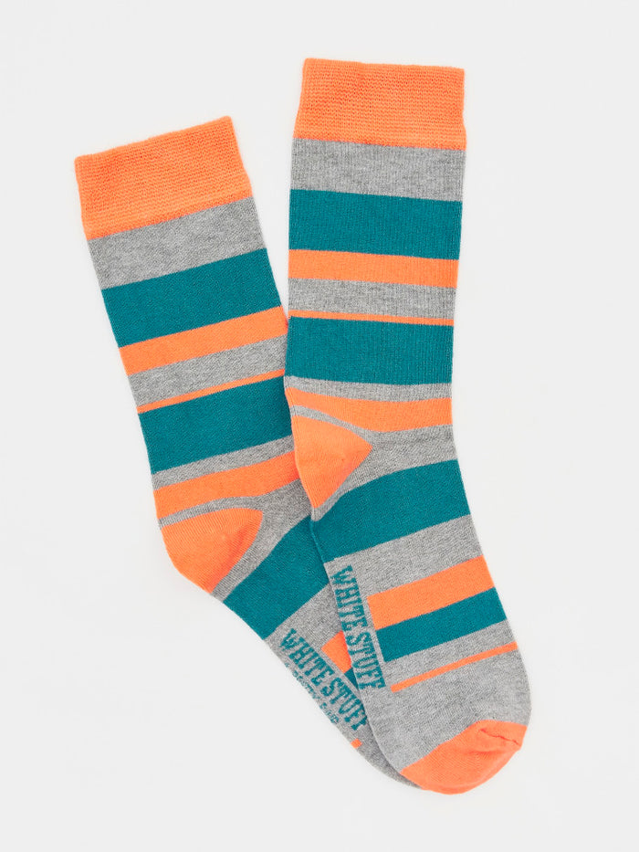 White Stuff Grey Bamboo Stripe Socks