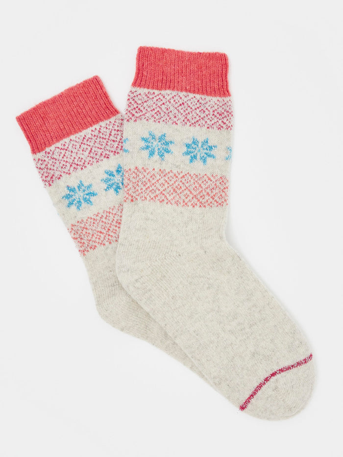 White Stuff Sparkle Fairisle Boot Socks