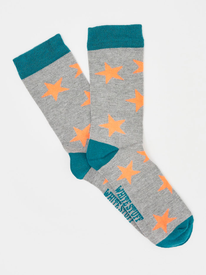 White Stuff Teal Bamboo Star Socks