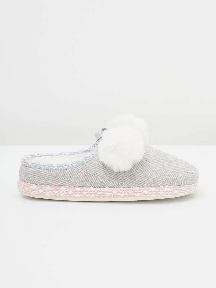 White Stuff Tweed Mule Slippers