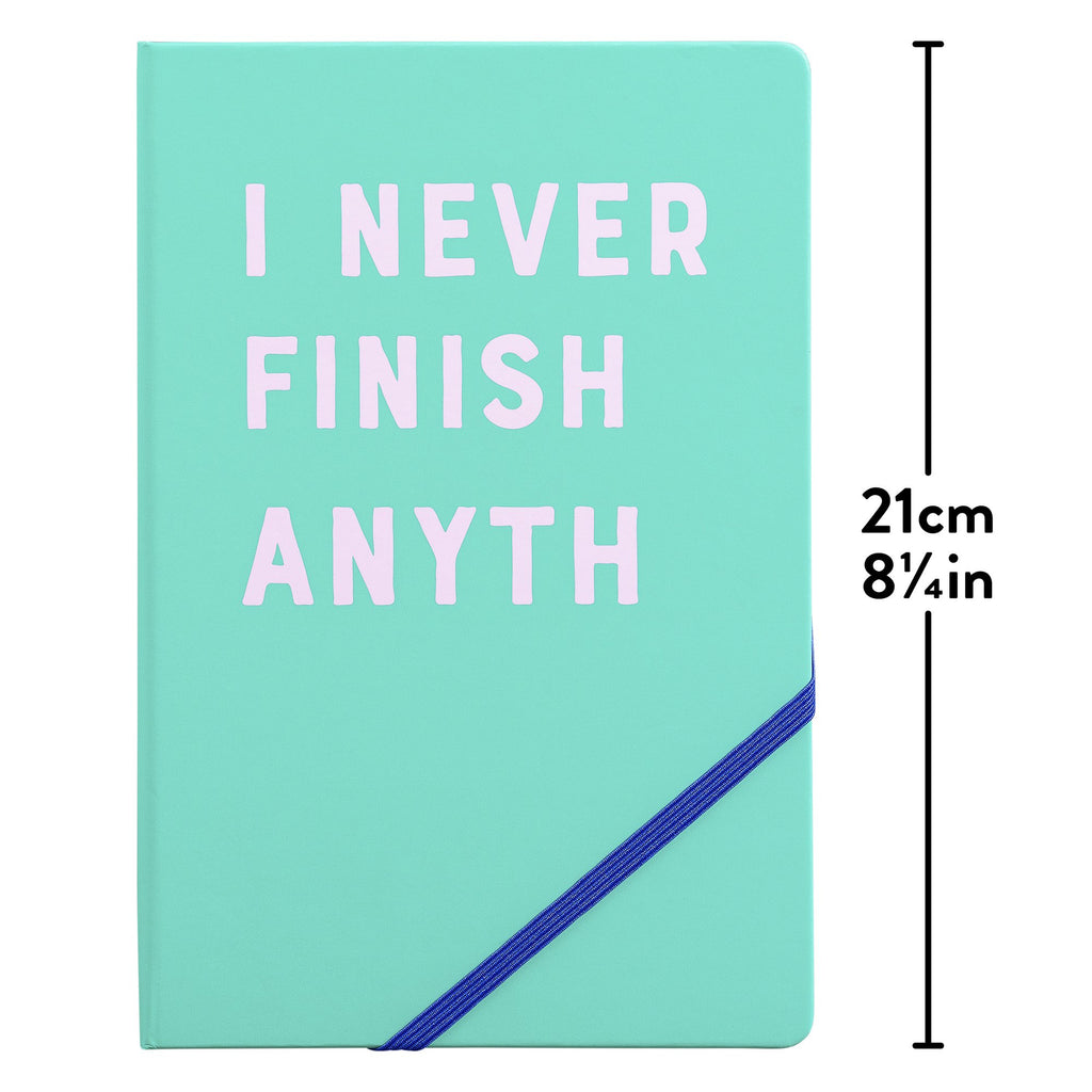 Yes Studio 'I Never Finish' A5 Notebook