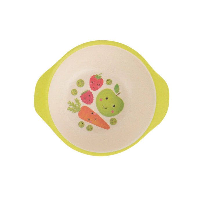 Happy Fruit and Veg Bamboo Kid's Bowl
