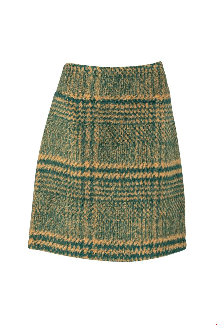 Zilch Forest Tweed Skirt