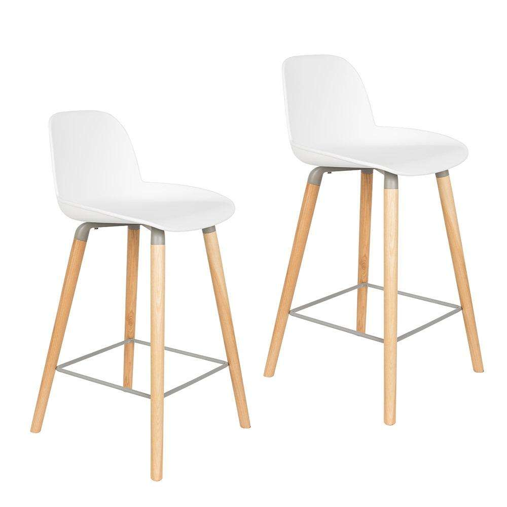 Albert Kuip Counter Stool - White
