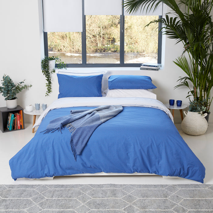 Blue & White Trellis Duvet Set
