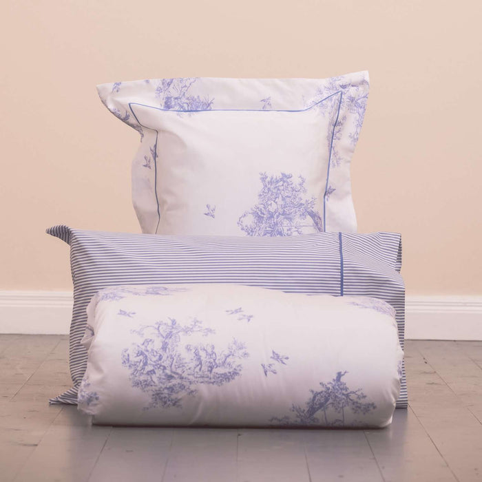 Blue Toile Duvet Cover