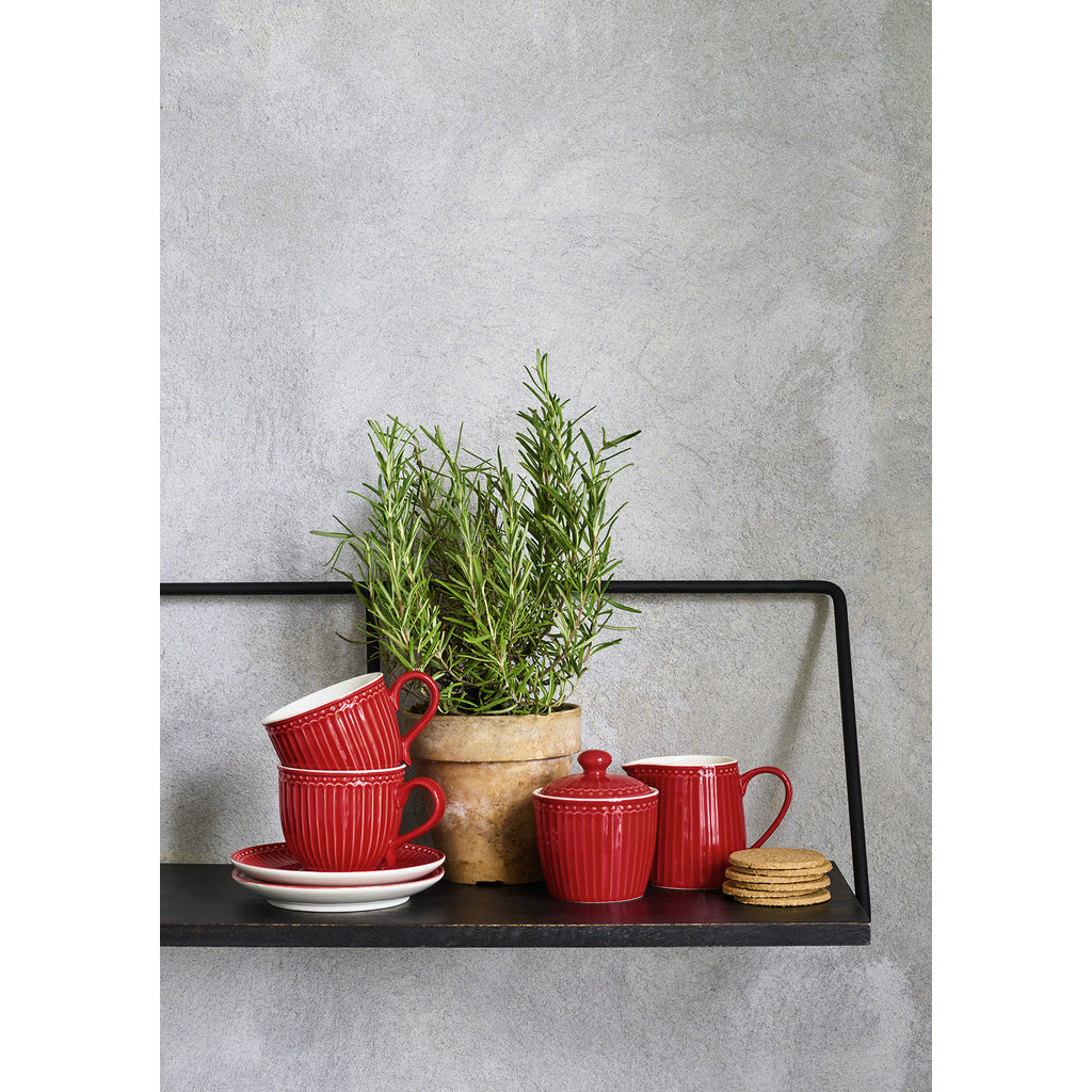 GreenGate Cup with Saucer Alice - Red