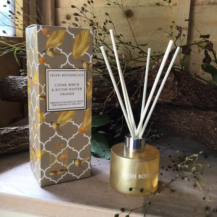 Irish Botanicals Cedar, Birch & Bitter Winter Orange Diffuser