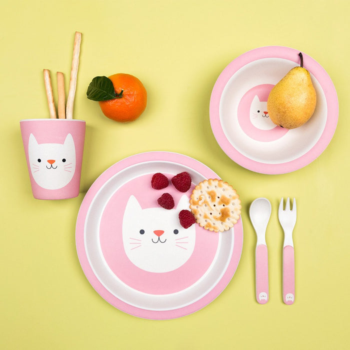Cookie The Cat Bamboo Tableware