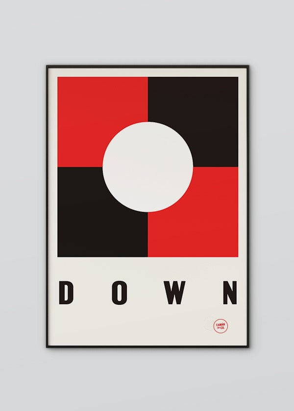 Down Flag Poster