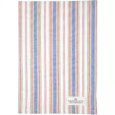 GreenGate Imke Tea Towel - Dusty Blue