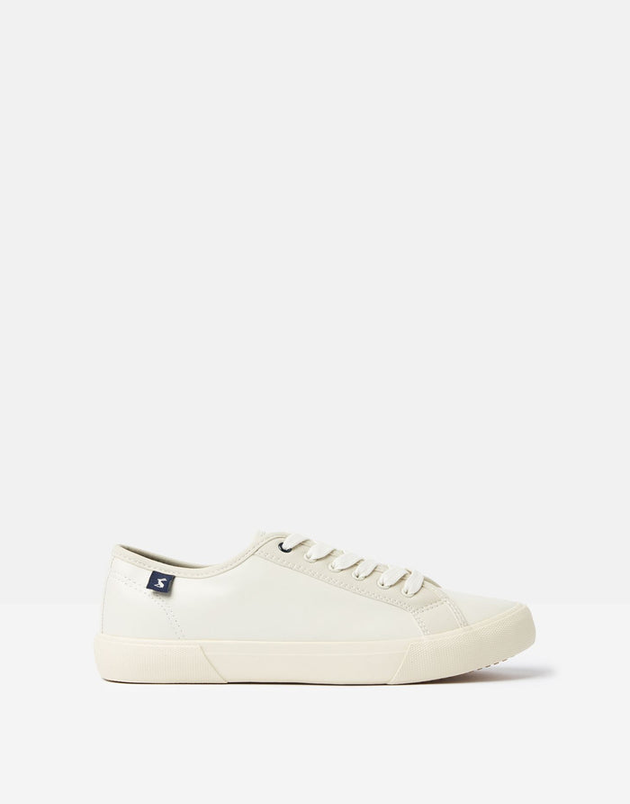 Joules Coast Pump Faux Leather - Cream