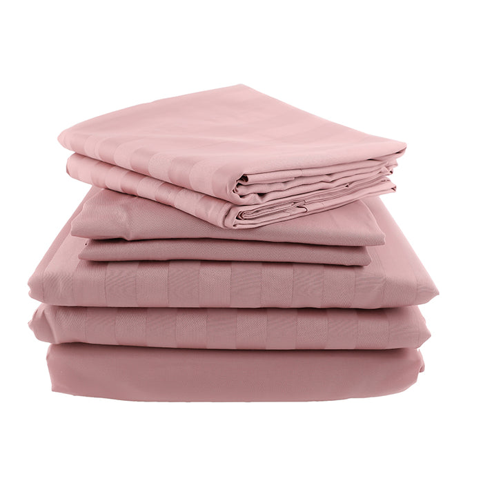 The Luxury Bundle - Sateen Stripe in Dusty Pink