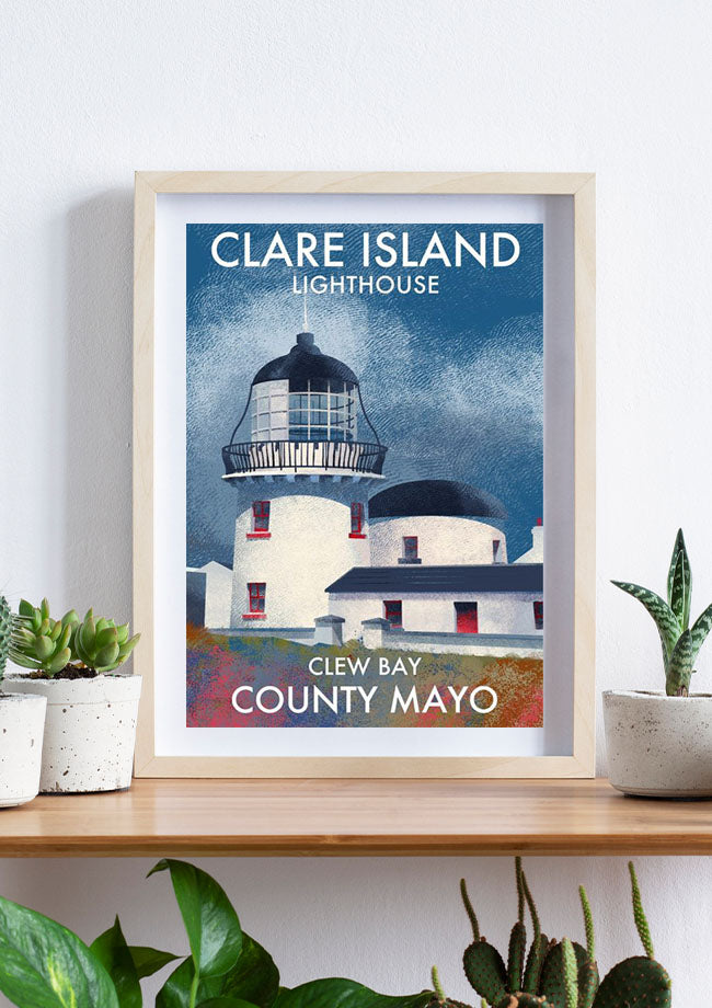 Roger O'Reilly Clare Island Lighthouse - Print