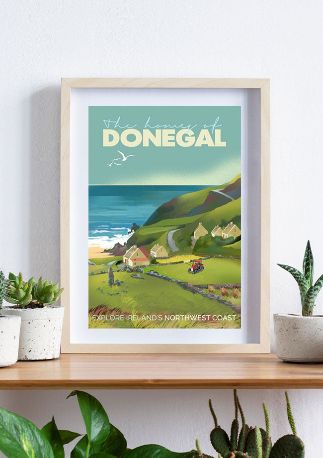 Roger O'Reilly County Donegal - Framed Poster