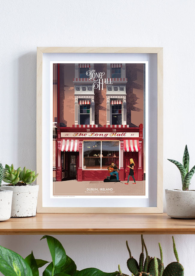 Roger O'Reilly Irish Pubs - The Long Hall - Framed Print