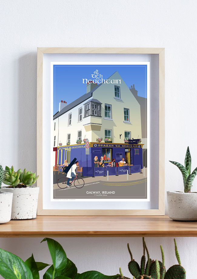 Copy of Roger O'Reilly Irish Pubs - Tigh Neachtain Print