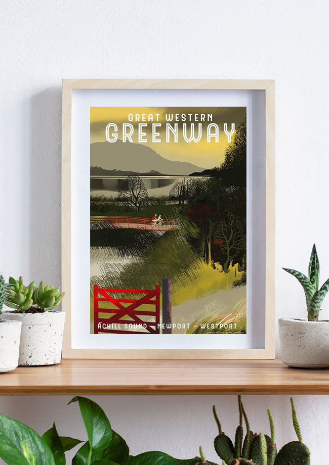 Roger O'Reilly Counties Of Ireland - The Great Western Greenway Print