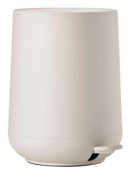 Cream Moulded Bathroom Pedal Bin