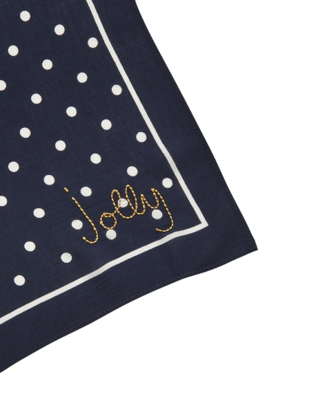 Joules Tiewell Embroidered Neckerchief - Navy