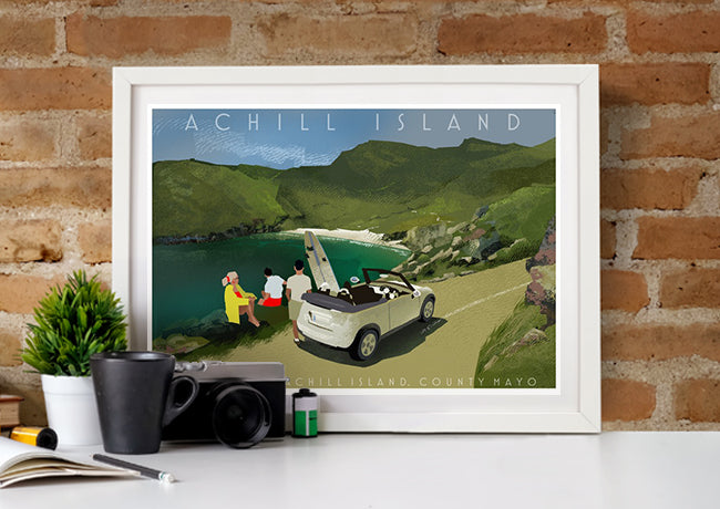 Roger O'Reilly Counties of Ireland Achill - Framed Print
