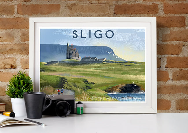 Roger O'Reilly Counties Of Ireland Silgo - Print