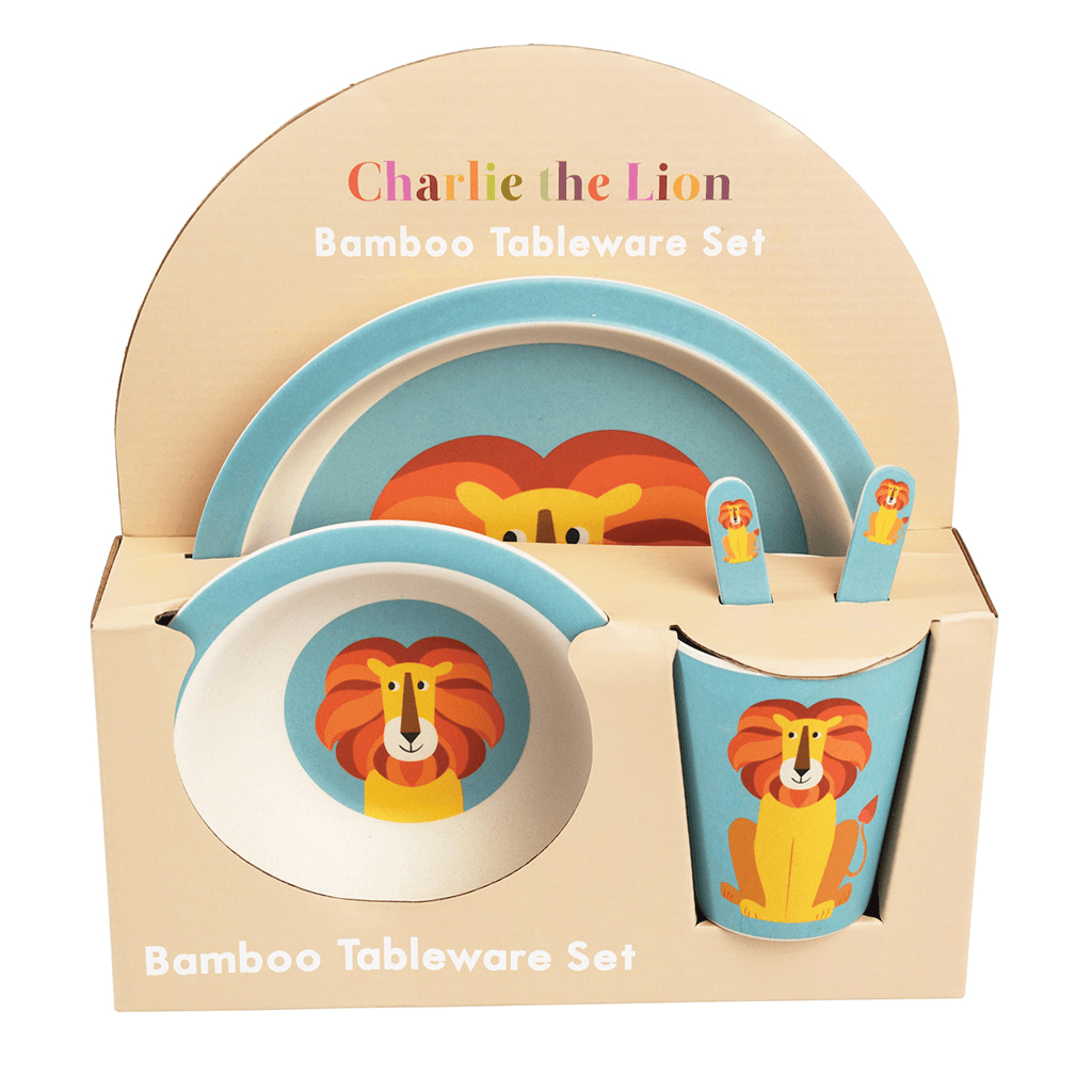 Charlie The Lion Bamboo Tableware (Set Of 5)