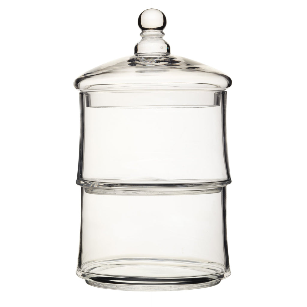 Two Tier Glass Storage Jar