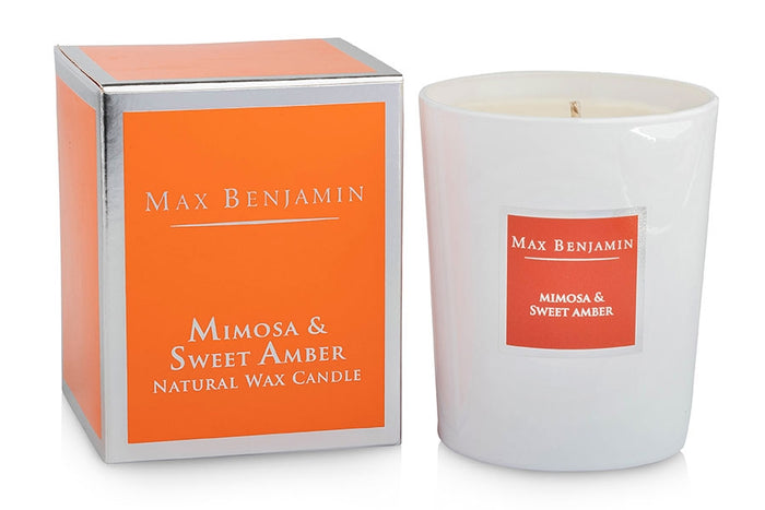 Mimosa and Sweet Amber Max Benjamin Candle