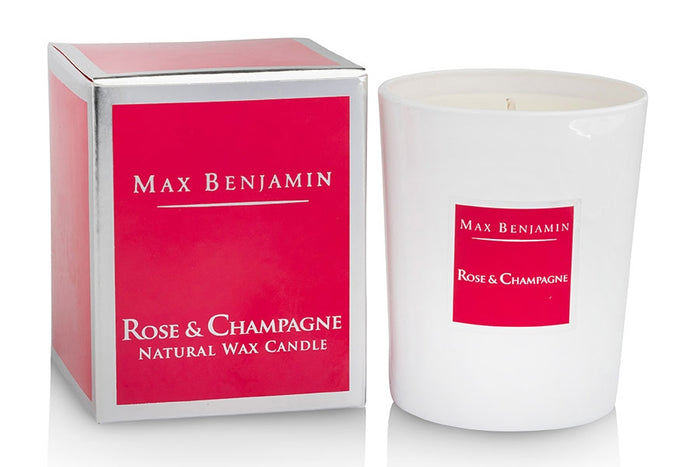 Rose and Champagne Max Benjamin Candle