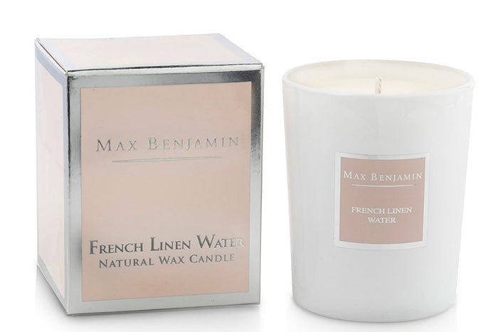 French Linen Water Max Benjamin Candle