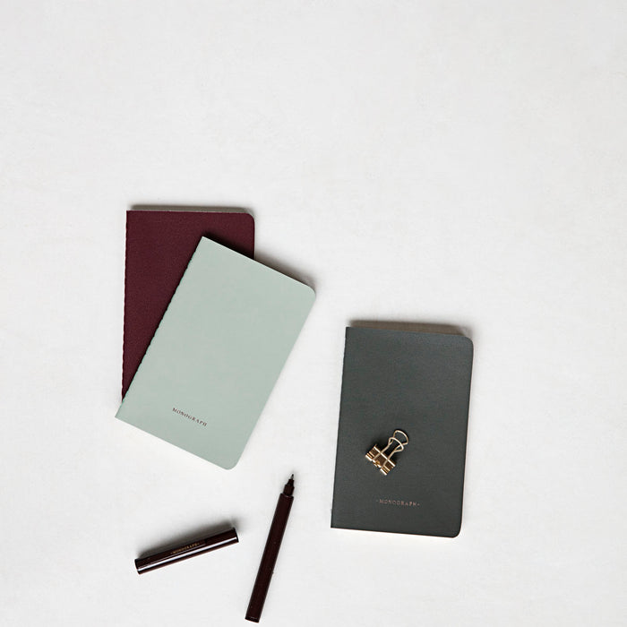 Green, Grey and Bordeaux Notebook
