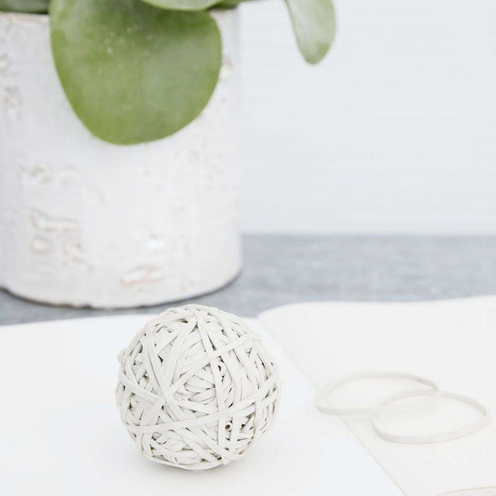 White Rubber Band Ball