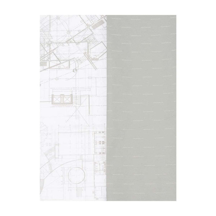White and Grey Blueprint Tissue Paper